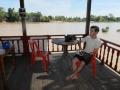 vu sur le mekong depuis la terrasse